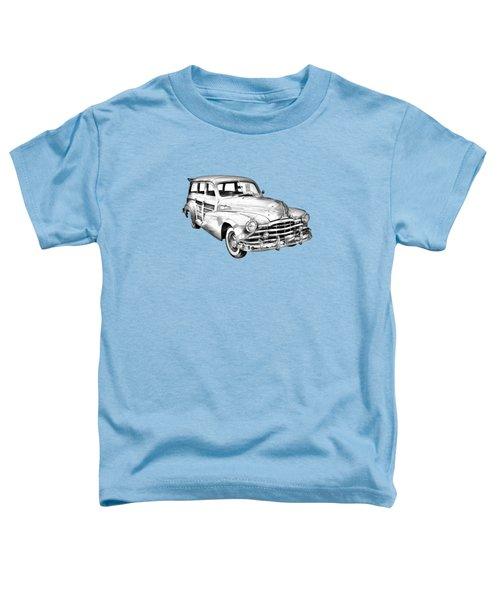 1948 Pontiac Silver Streak Woody Illustration Toddler T-Shirt