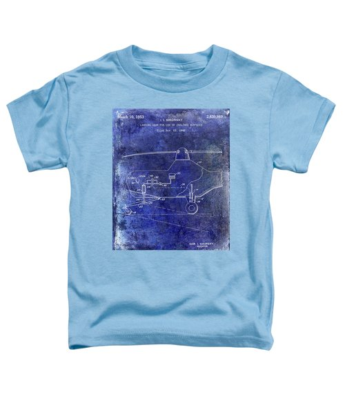 1953 Helicopter Patent Blue Toddler T-Shirt by Jon Neidert