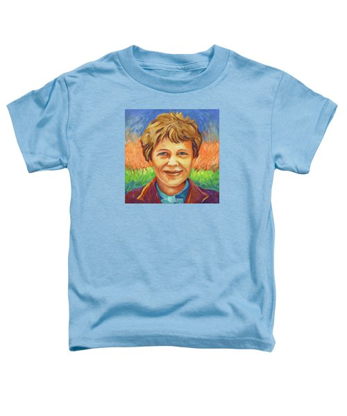 Amelia Earhart Portrait Toddler T-Shirt