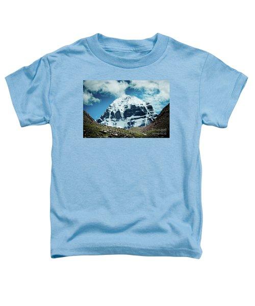 Holy Kailas North Slop Himalayas Tibet Yantra.lv Toddler T-Shirt