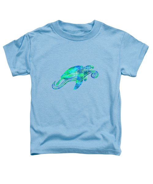 Sea Turtle Graphic Toddler T-Shirt by Chris MacDonald