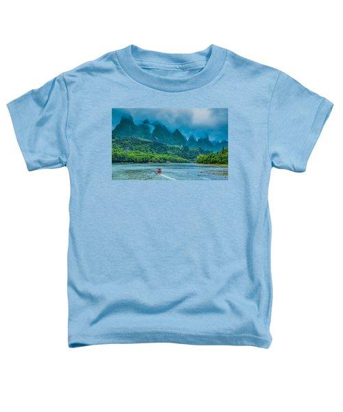Karst Mountains And Lijiang River Scenery Toddler T-Shirt