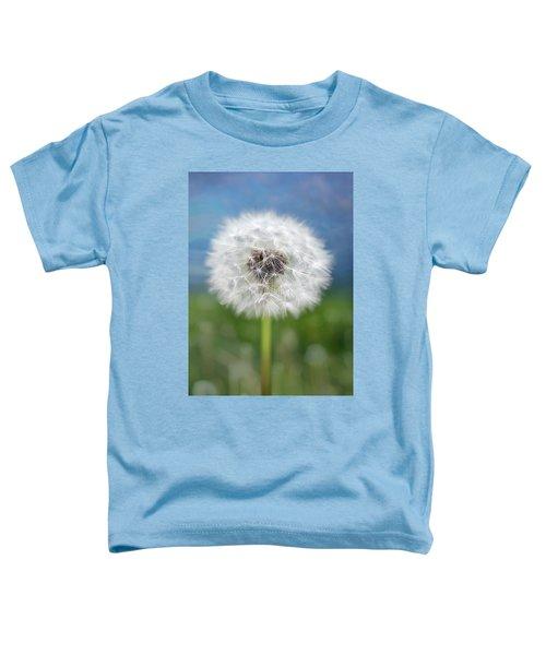 A Single Dandelion Seed Pod Toddler T-Shirt