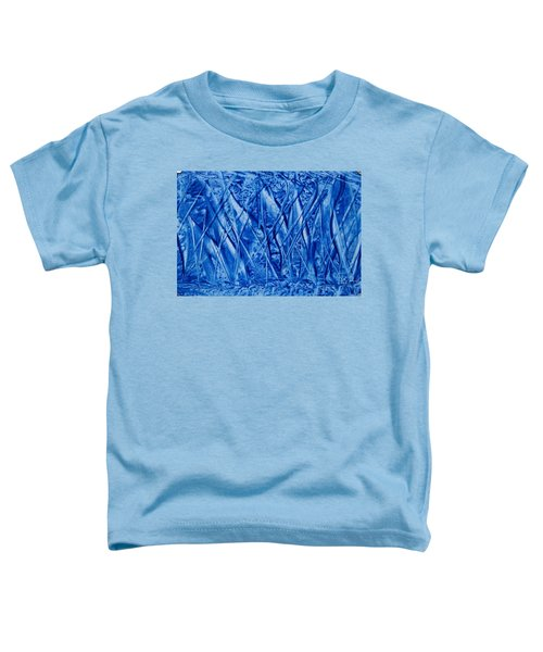 Abstract Encaustic Blues Toddler T-Shirt