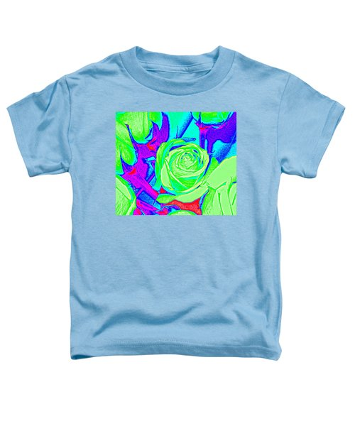 Abstract Green Roses Toddler T-Shirt