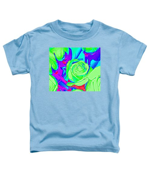 Abstract Green Roses Toddler T-Shirt