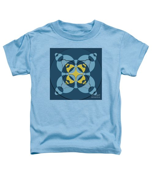 Abstract Mandala Blue, Dark Blue And Green Pattern For Home Decoration Toddler T-Shirt