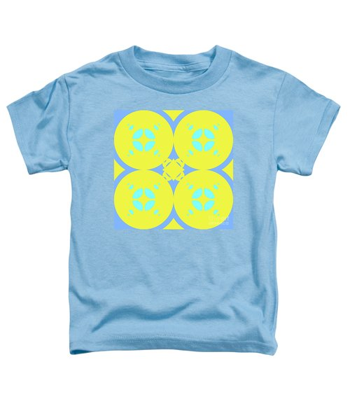 Abstract Mandala Cyan, Dark Blue And Green Pattern For Home Decoration Toddler T-Shirt