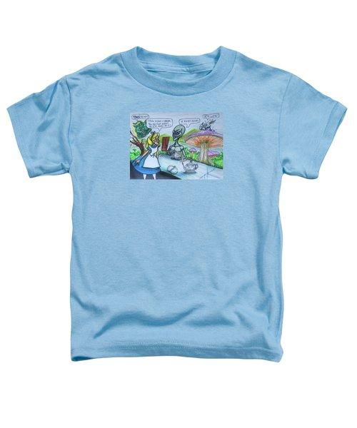 Alien In Wonderland Toddler T-Shirt