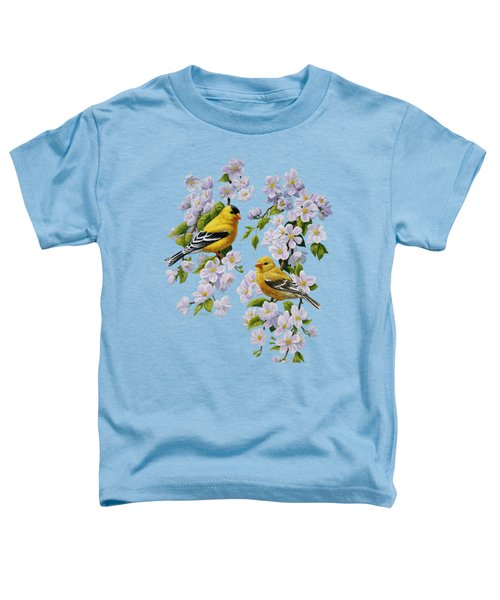 American Goldfinch Spring Toddler T-Shirt by Crista Forest