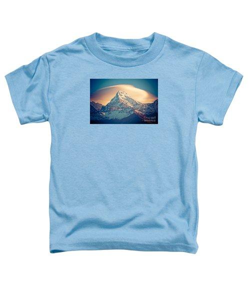 Annapurna Sunrise Himalayas Mountains Toddler T-Shirt