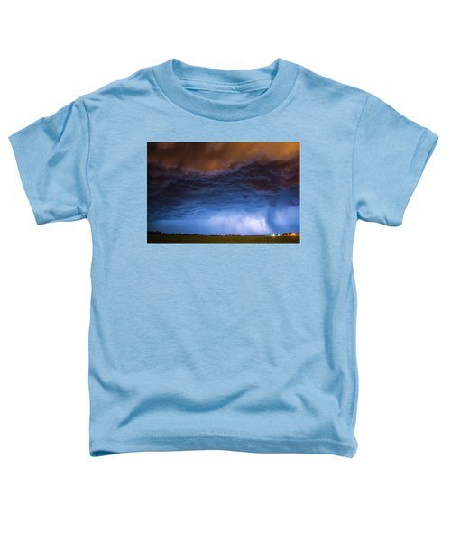 Another Impressive Nebraska Night Thunderstorm 008/ Toddler T-Shirt