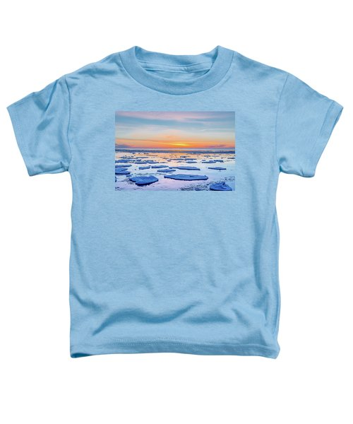 April Sunset Over Lake Superior Toddler T-Shirt