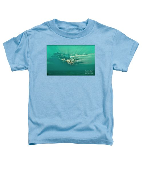 Aqua Sunset Toddler T-Shirt