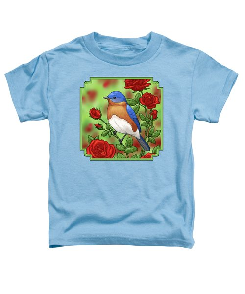 New York State Bluebird And Rose Toddler T-Shirt