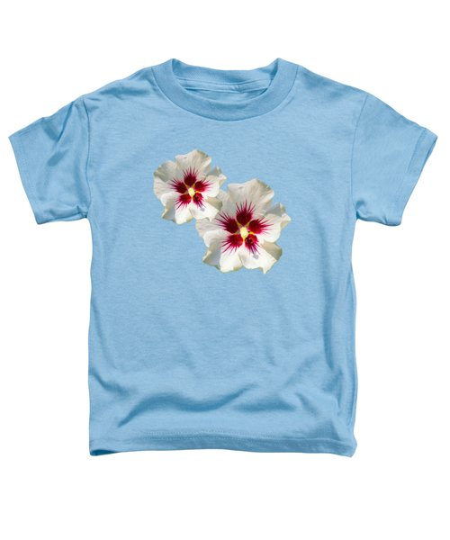 Toddler T-Shirt featuring the mixed media Hibiscus Flower Pattern by Christina Rollo