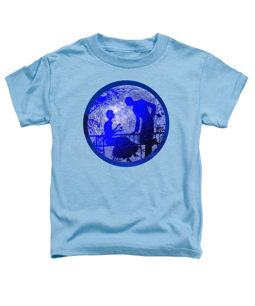 Blue Moonlight Lovers Toddler T-Shirt