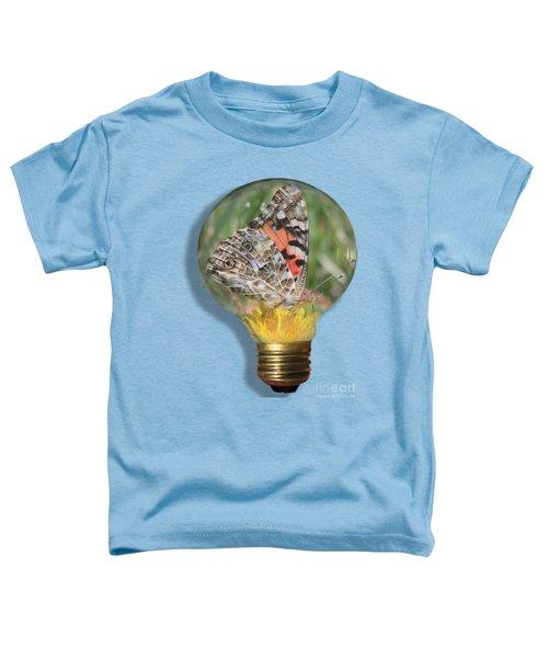 Butterfly In Lightbulb Toddler T-Shirt