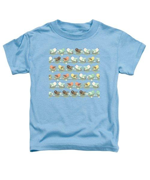 Assorted Birds Pattern Toddler T-Shirt