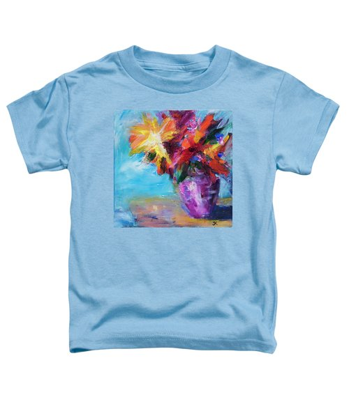 Colorful Flowers  Toddler T-Shirt