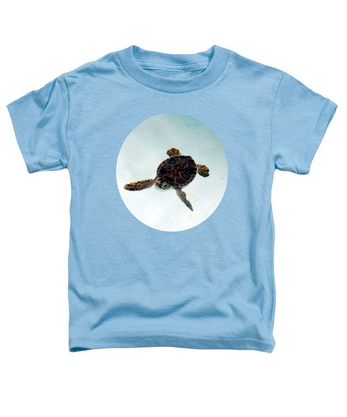 Toddler T-Shirt featuring the photograph Baby Turtle by Francesca Mackenney