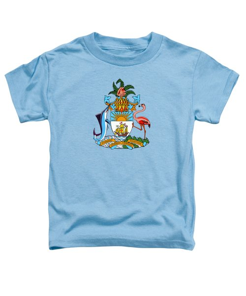 Bahamas Coat Of Arms Toddler T-Shirt by Movie Poster Prints