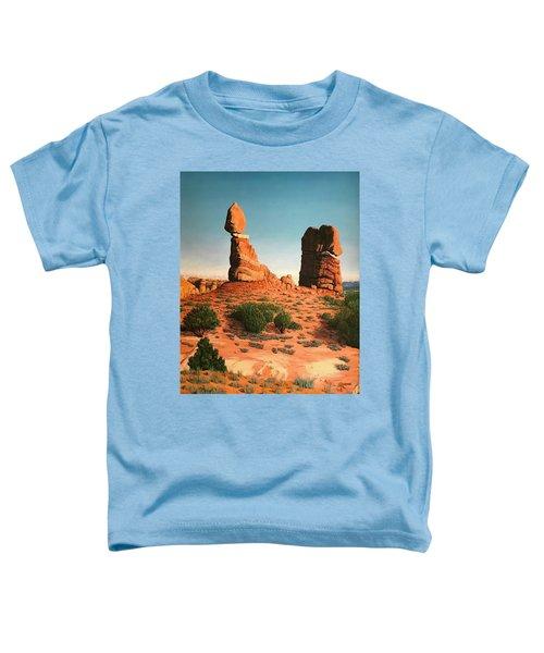 Balanced Rock At Arches National Park Toddler T-Shirt