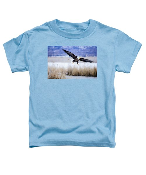 Bald Eagle Landing Toddler T-Shirt