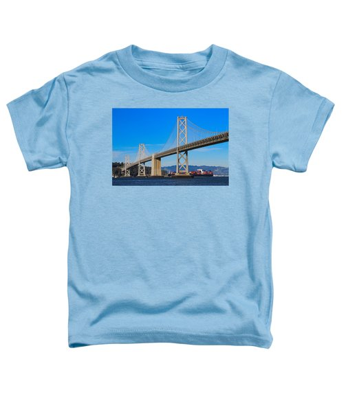Bay Bridge With Apl Houston Toddler T-Shirt