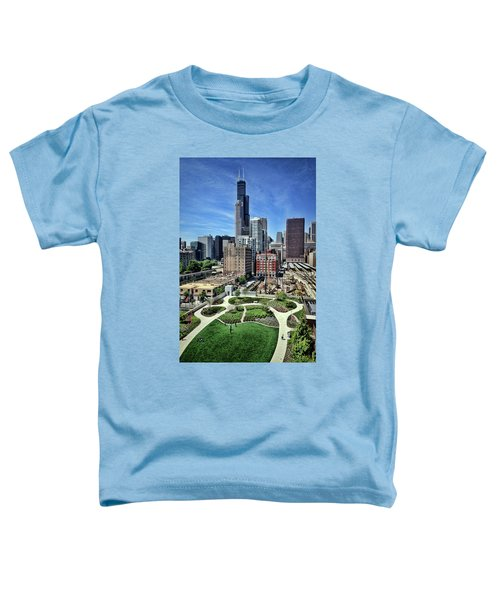 beautiful day and view of Chicago Toddler T-Shirt