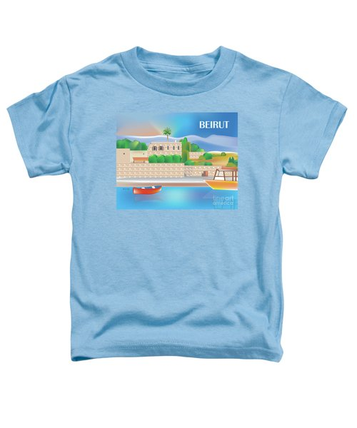 Beirut Lebanon Horizontal Scene Toddler T-Shirt
