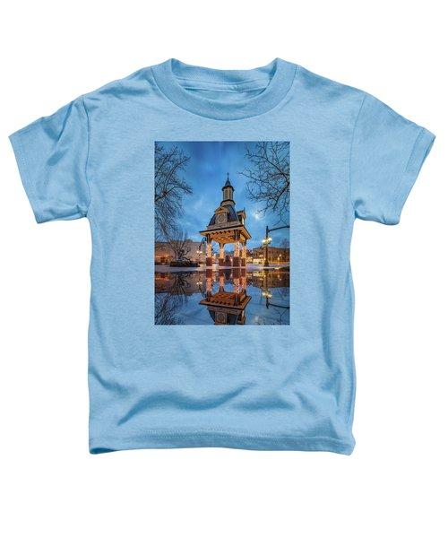 Bell Tower  In Beaver  Toddler T-Shirt by Emmanuel Panagiotakis