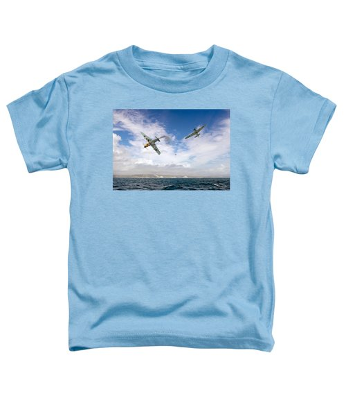 Toddler T-Shirt featuring the photograph Bf109 Down In The Channel by Gary Eason