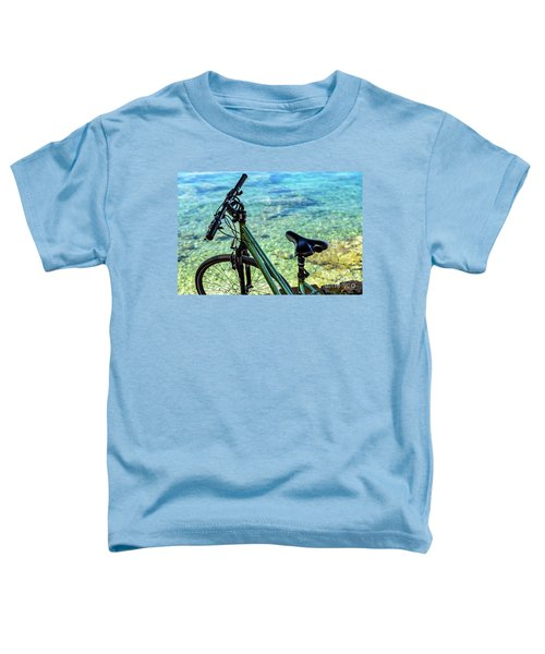Bicycle By The Adriatic, Rovinj, Istria, Croatia Toddler T-Shirt