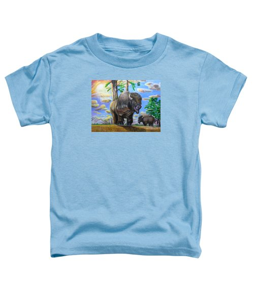 Bison Acrylic Painting Toddler T-Shirt