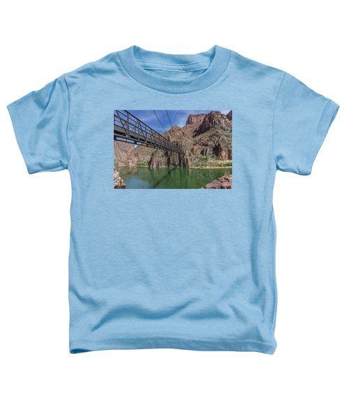 Black Bridge Over The Colorado River At Bottom Of Grand Canyon Toddler T-Shirt