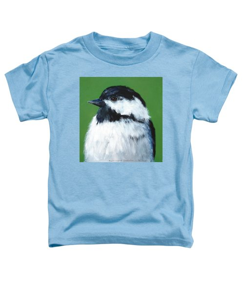 Black Capped Chickadee Toddler T-Shirt
