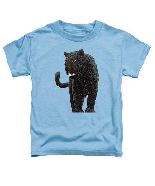Black Panther Toddler T-Shirt by Dusty Conley