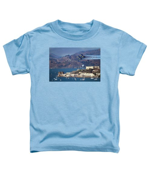 Blue Angels Over Alcatraz Toddler T-Shirt