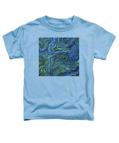 Blue Green Texture Toddler T-Shirt
