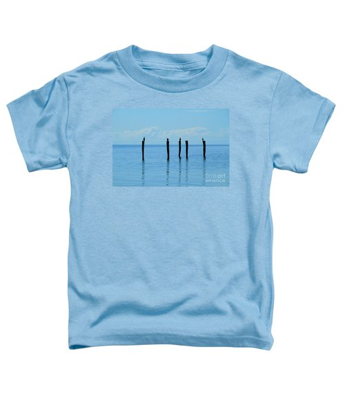 Toddler T-Shirt featuring the photograph Blue Horizon by Stephen Mitchell