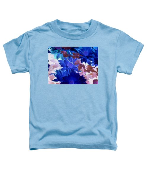 Blue Mums With Purple Ivy Toddler T-Shirt