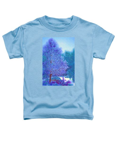 Blue Snow Scene Toddler T-Shirt