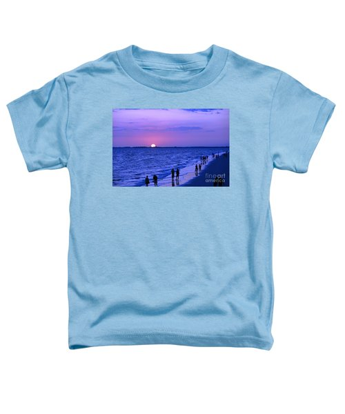 Blue Sunset On The Gulf Of Mexico At Fort Myers Beach In Florida Toddler T-Shirt