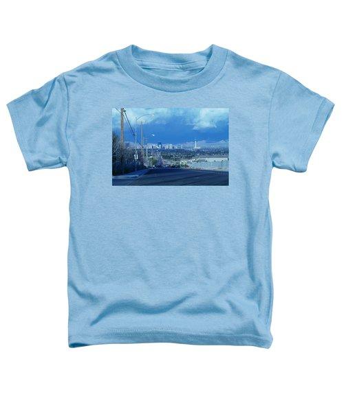 Blue Vegas Toddler T-Shirt