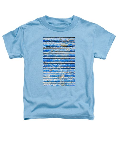 Blue Weathered Metal  Toddler T-Shirt