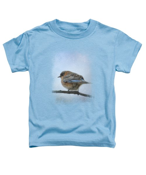 Bluebird In The Snow Toddler T-Shirt by Jai Johnson