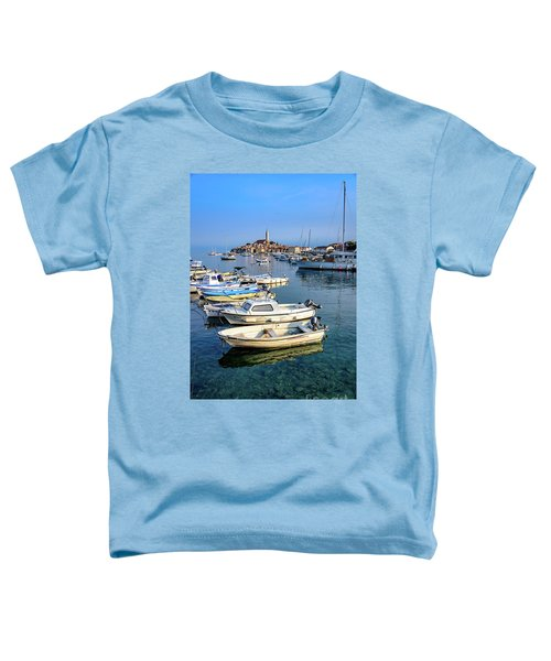 Boats Of The Adriatic, Rovinj, Istria, Croatia  Toddler T-Shirt