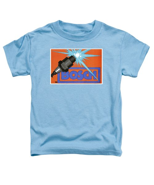 Bosch Spark Plug - Vintage Advertising Poster - Minimal Industrial Art Toddler T-Shirt