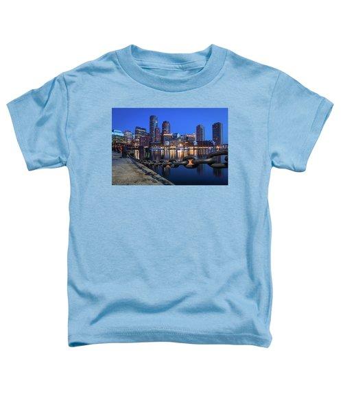 Boston Harbor Blue Toddler T-Shirt